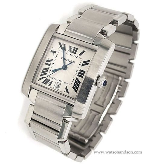 Stainless Steel Cartier Tank Francaise 1