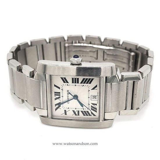 Stainless Steel Cartier Tank Francaise 2