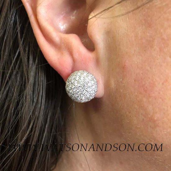 Pave Diamond Clip Earrings 2