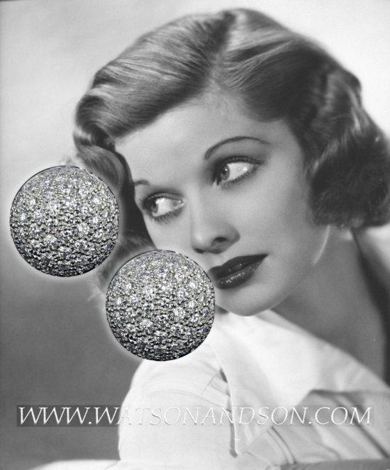 Pave Diamond Clip Earrings 3