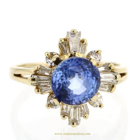 Sapphire And Diamond Cluster Ring 1