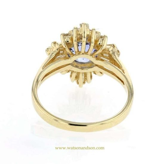 Sapphire And Diamond Cluster Ring 4