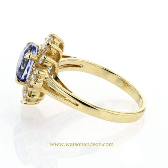 Sapphire And Diamond Cluster Ring 3