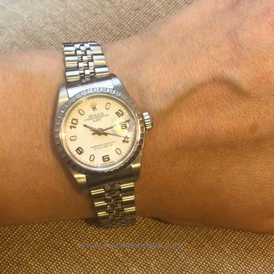 Ladies Steel Rolex Bracelet Watch 5
