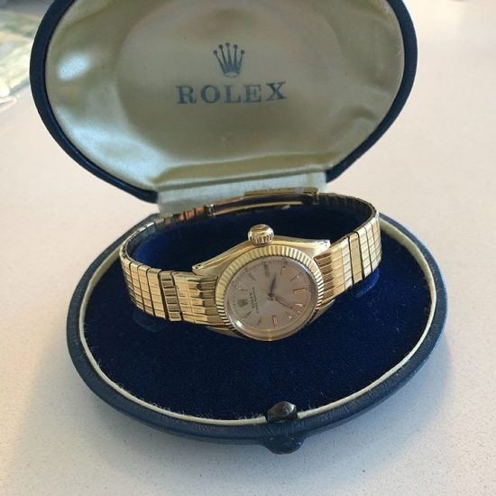 Ladies Yellow Gold Rolex Oyster Bracelet Watch 1