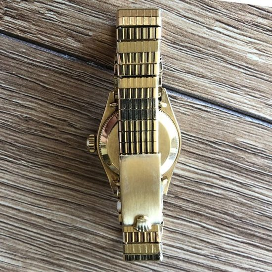 Ladies Yellow Gold Rolex Oyster Bracelet Watch 3