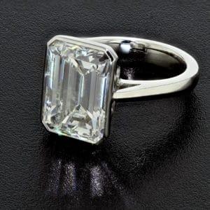 Infinity Edge Set Emerald Cut Diamond 4017