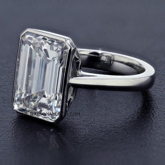 Custom Designed Infinity Edge Bezel Set Diamond 5