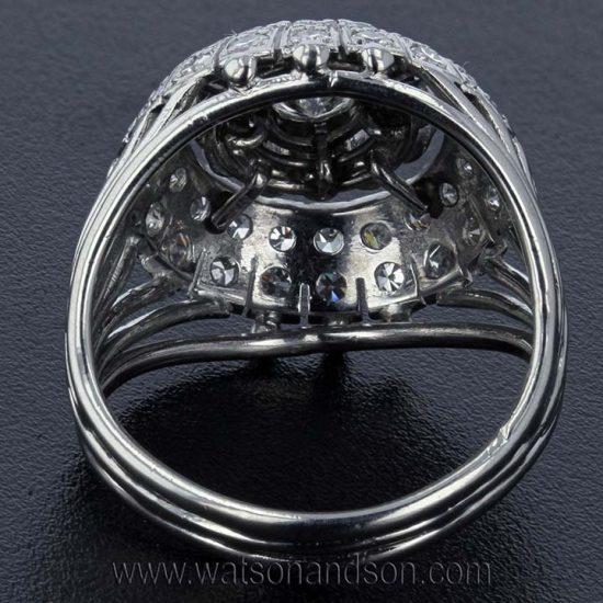 Platinum Diamond Bombe Ring 2