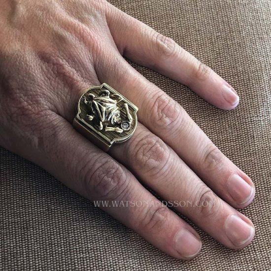 Bold Yellow Gold Scarab Beetle Ring 5