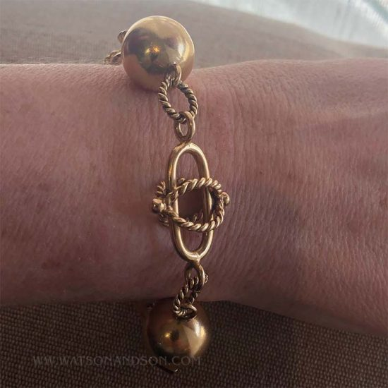 Ball And Rope Gold Bracelet 4