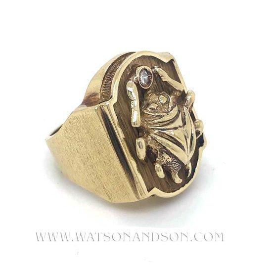 Bold Yellow Gold Scarab Beetle Ring 4