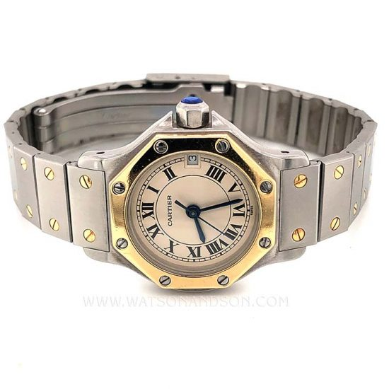 Ladies Cartier Santos Octagonal 1