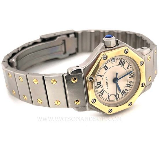 Ladies Cartier Santos Octagonal 5
