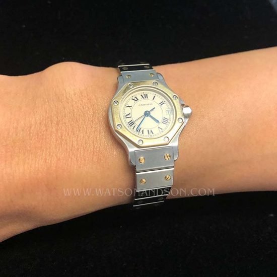 Ladies Cartier Santos Octagonal 2