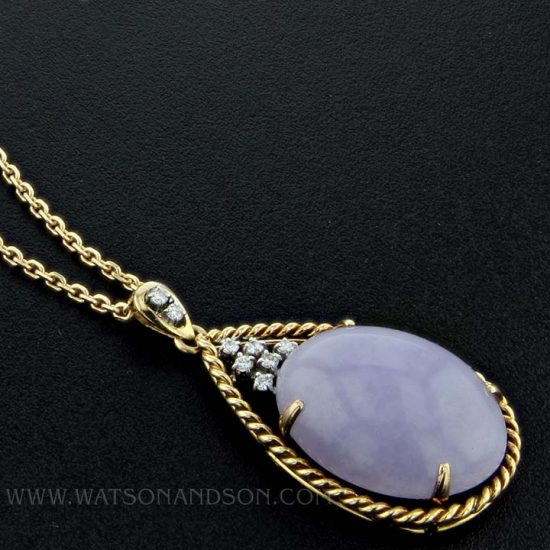 Lavender Jade Drop Pendant 2