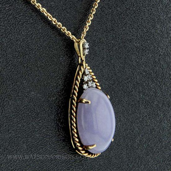 Lavender Jade Drop Pendant 4