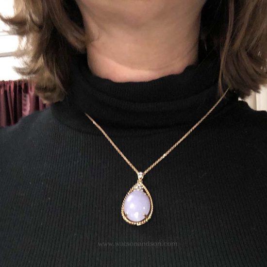 Lavender Jade Drop Pendant 3