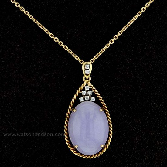 Lavender Jade Drop Pendant 1