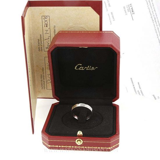Platinum C de Cartier Diamond Wedding Band 3