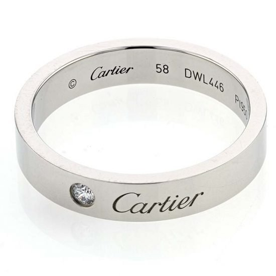 Platinum C de Cartier Diamond Wedding Band 1