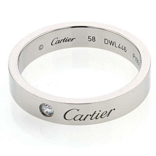Platinum C de Cartier Diamond Wedding Band 1