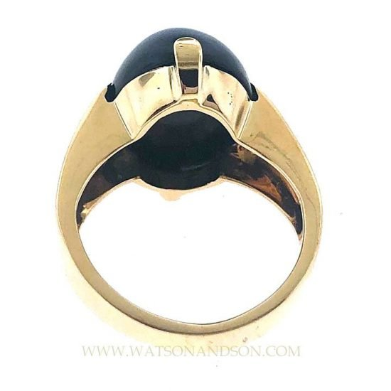 14k Gumps Onyx Ring 3