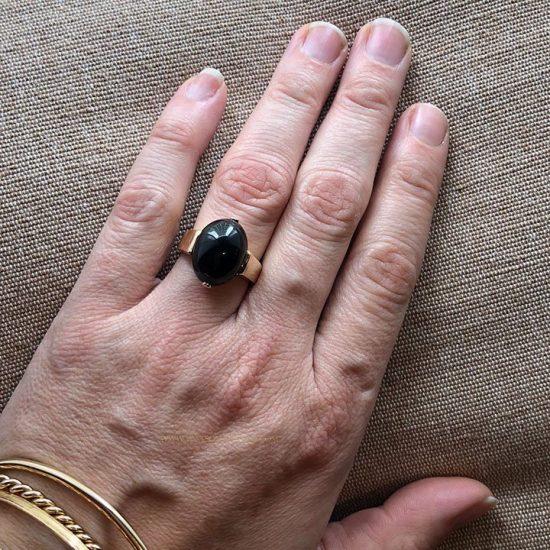14k Gumps Onyx Ring 4