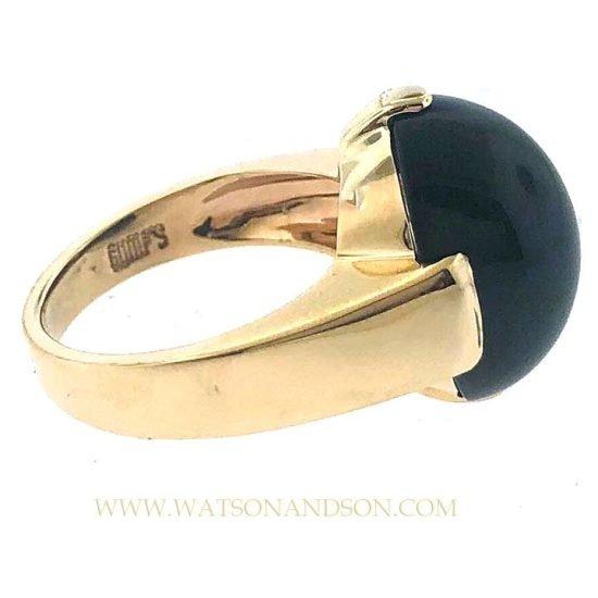 14k Gumps Onyx Ring 2