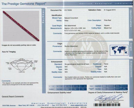 Burmese Ruby Deco Bracelet 5