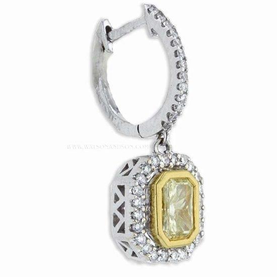 Fancy Yellow Diamond Drop Earrings 3