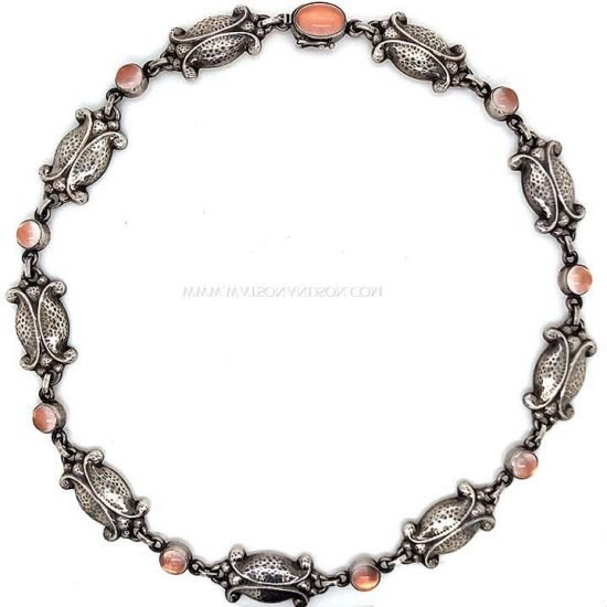 Georg Jensen Moonlight Blossom Moonstone Necklace 4