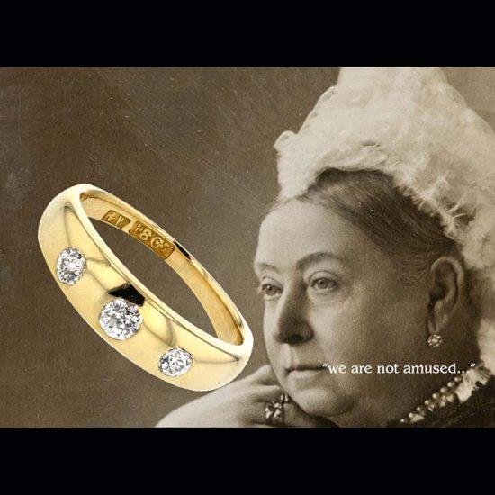 Victorian 3 Diamond Ring 2