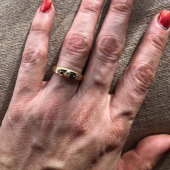 Victorian 3 Diamond Ring 3