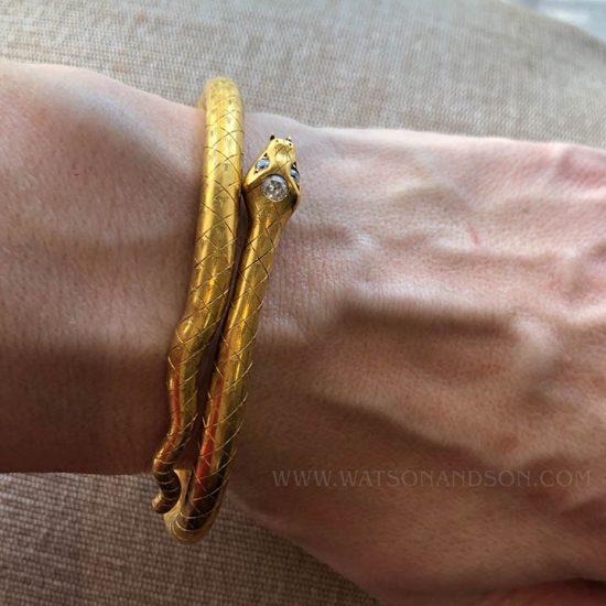 Victorian Gold Snake Bracelet 2