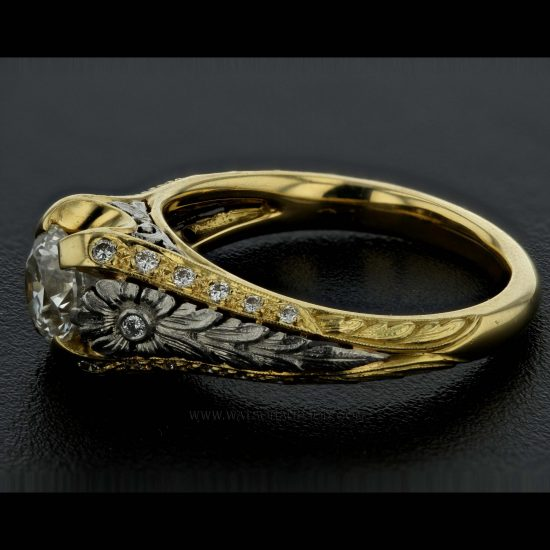 Yellow Gold And Platinum Van Craeynest Wedding Set 5