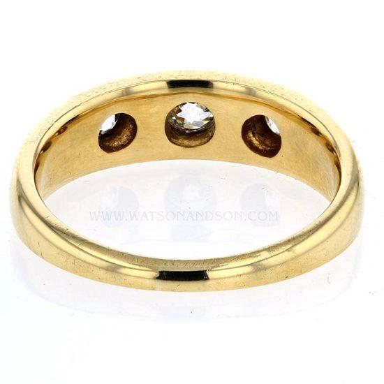 Victorian 3 Diamond Ring 5
