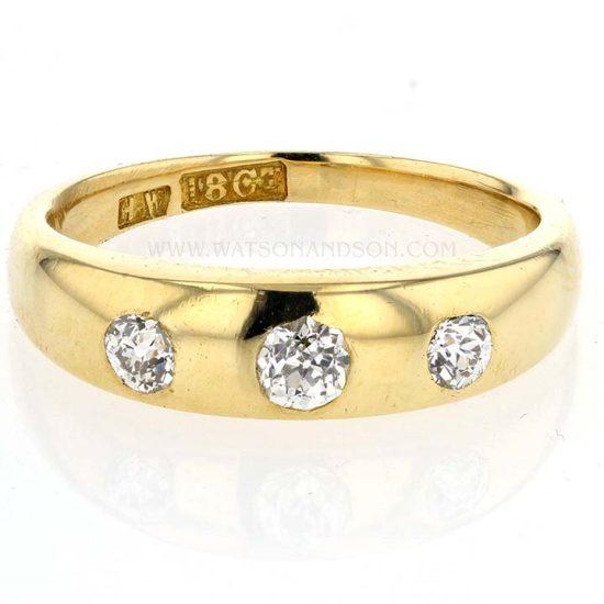 Victorian 3 Diamond Ring 1