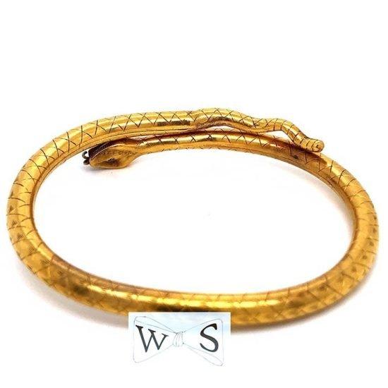 Victorian Gold Snake Bracelet 3