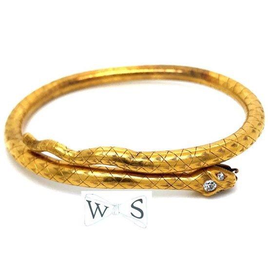 Victorian Gold Snake Bracelet 1