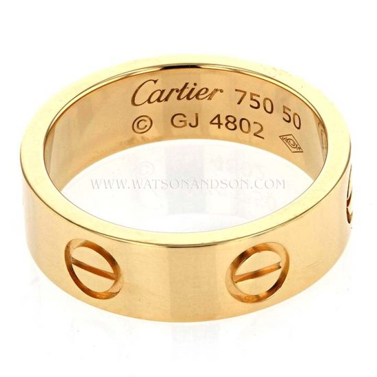 Cartier Love Ring In Yellow Gold 1