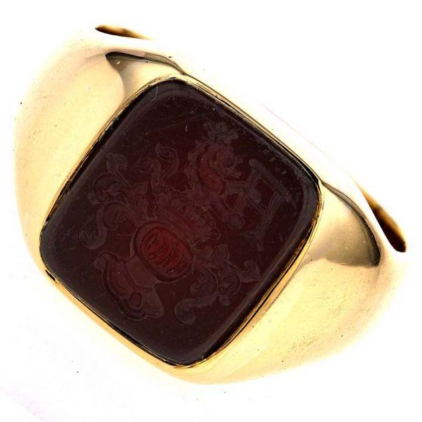 Gold Intaglio Ring 1