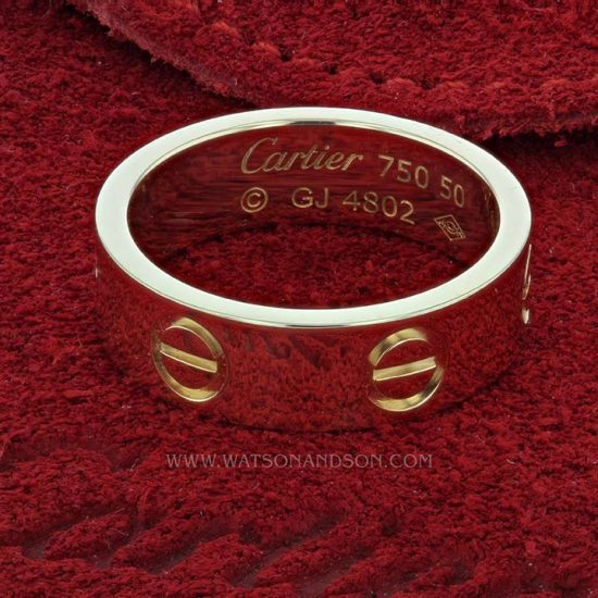 Cartier Love Ring In Yellow Gold 2