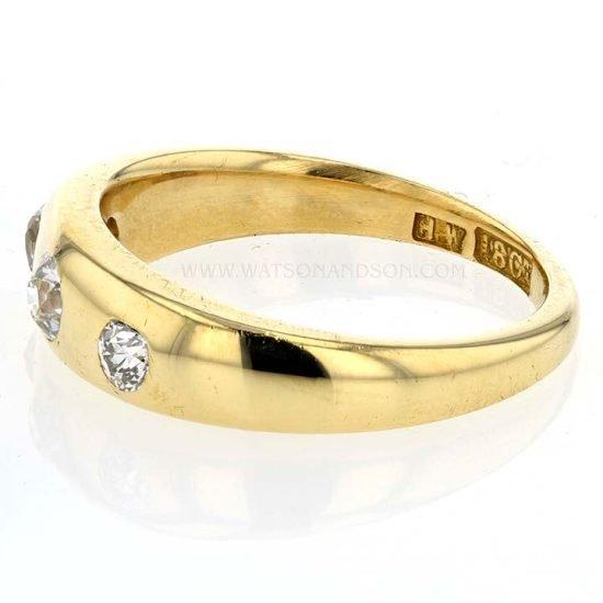 Victorian 3 Diamond Ring 4