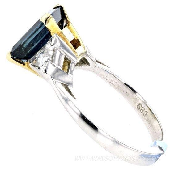 Emerald Cut Sapphire Ring 4