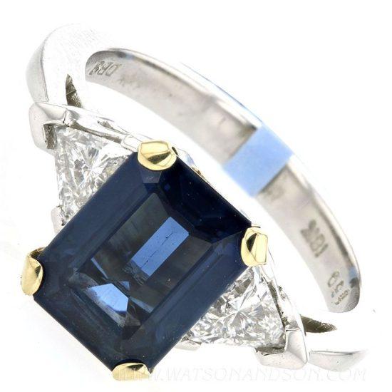 Emerald Cut Sapphire Ring 2
