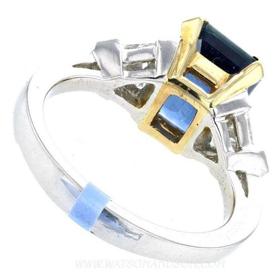 Emerald Cut Sapphire Ring 6