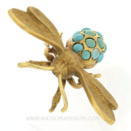 Turquoise Bee Pin &Quot;Florence&Quot; 3