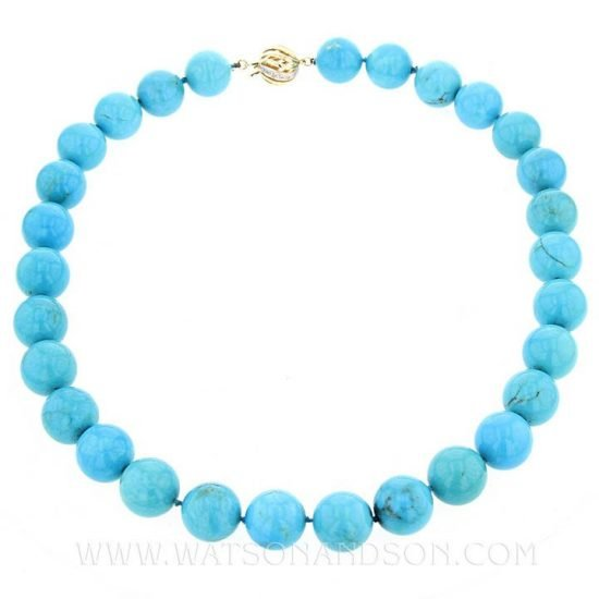 Turquoise Bead Necklace 1