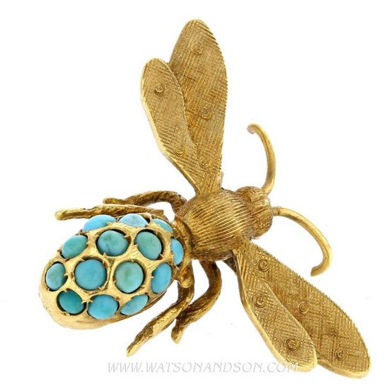 Turquoise Bee Pin &Quot;Florence&Quot; 4